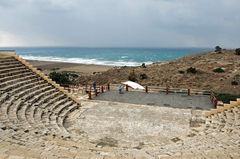 From the little church we continued down the coast to Kourion, a Greco-Roman city built around the second century BC.  This superb theater with impressive views is still in use today.