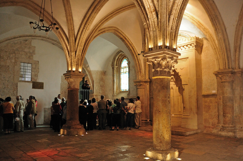 The Hall of The Last Supper.  It's located on the floor directly above King David's Tomb..