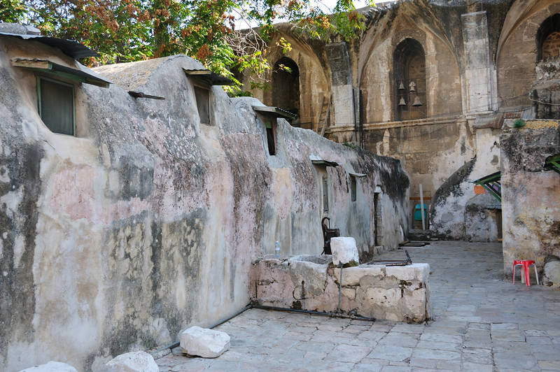 Coptic monks live their adult lives in these small rooms.