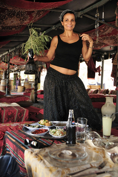 Turns out there weren't many Bedoins in the Bedouin tent (one, to be exact).  This is Sharon, an Israeli who owns the tent.