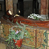 Mary's resting place in the abby.