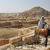 """In this part of Egypt, pyramids of all shapes and sizes dot the hazy horizon.  Many were """"failures"""" or experiments, but they still stand today, thousands of years later, well-preserved by the arid climate."""