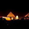 There's a spectacular light show each night at the pyramids.