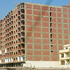 Perhaps because of the world-wide economic crisis, construction in Egypt had come to an abrupt end, leaving many unfinished buildings like the one above.