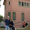 David and me in front of Gaudi's house.