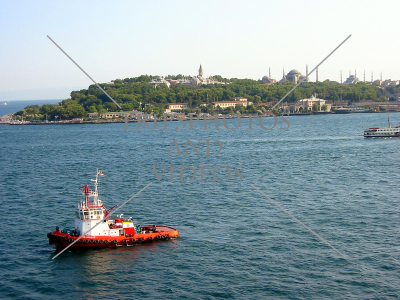 Offshore view of Istanbul, Turkey.
