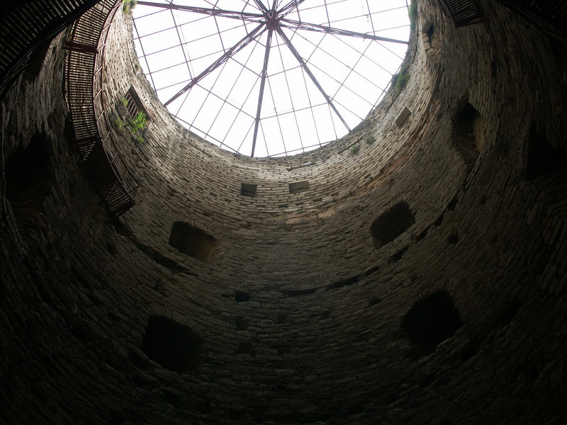 The Castle of Seven Towers.  View inside a tower.