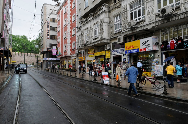 Street in front of hotel.