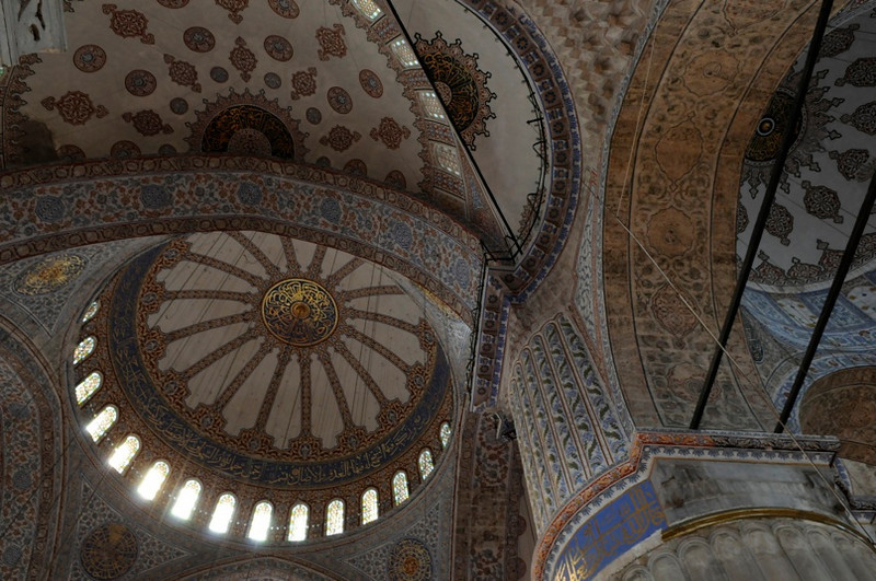 Ceiling of Blue Mosque.