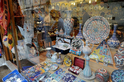 View of shop window.
