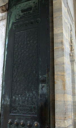 One of the massive doors to the outer courtyard.
