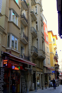 Side street near İstiklal Avenue.