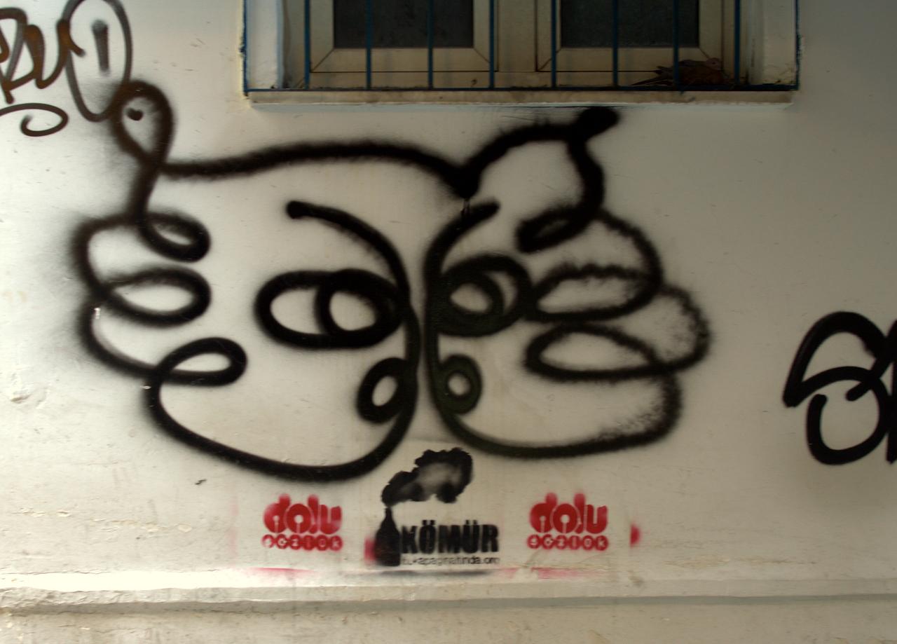 Butterfly(?) graffit.
