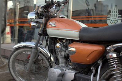 Wolf motorcycle. Is this a Ural brand? Obvious CB/UJM ripoff.