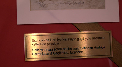 There were some gory pictures, accompanied with descriptions of Armenian massacre.