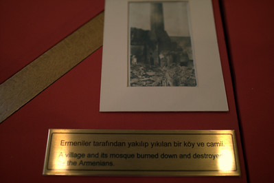 Blaming the Armenians for damage.