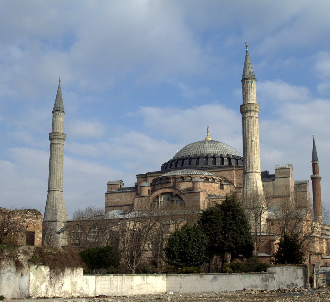 Hagia Sophia from a side street.