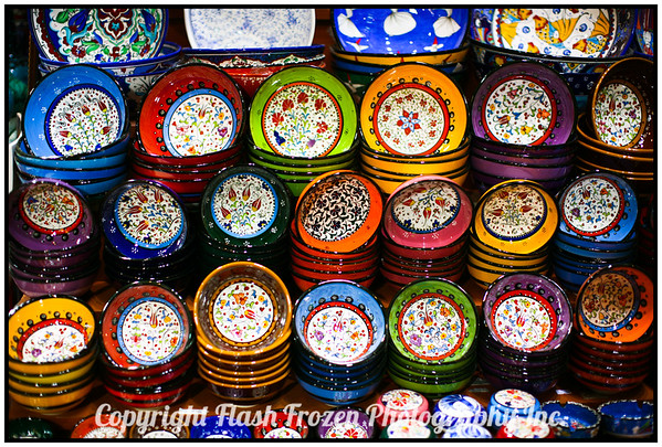 Bowls for Sale<br /> Spice Market<br /> Istanbul, Turkey