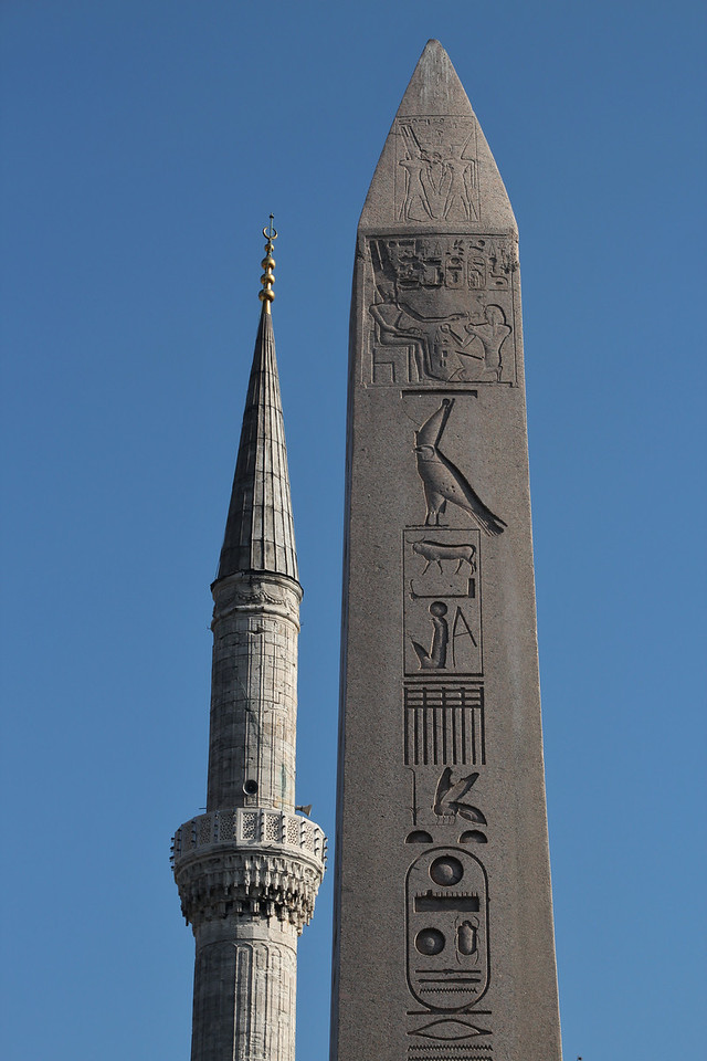 Contrasts- minneret and obelisk!