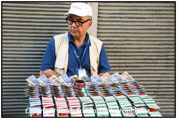 Lottery Saleman <br /> Spice Market<br /> istanbul, Turkey
