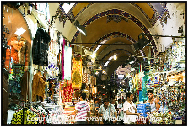Inside the Covered Bazaar<br /> Many Stores like this<br /> istanbul, Turkey