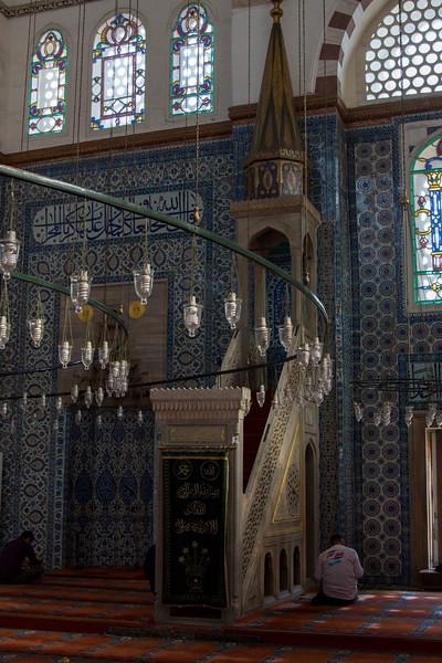 Inside the Rüstem Pasha Mosque
