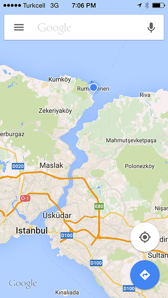 Map of Bosphorus
