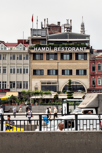 Hamdi Restaurant, the sight of one of our many fabulous meals in Istanbul.
