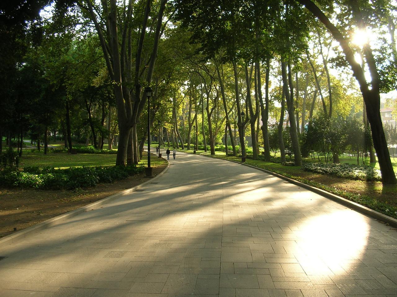 This lovely park near Topkapi