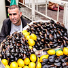 Street vendor with mussels