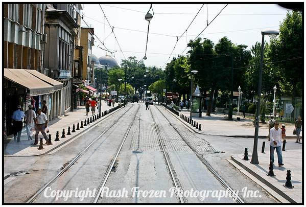 Streetcar line<br /> Istanbul, Turkey