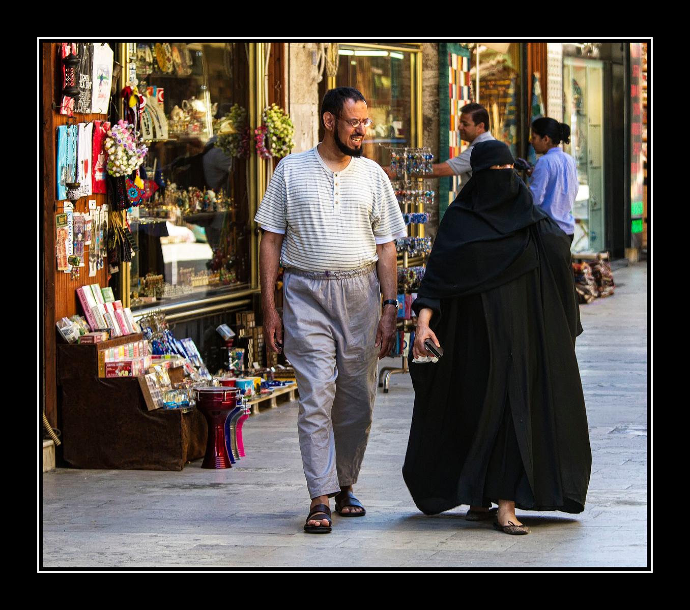 IMAGE: https://photos.smugmug.com/Travel/Istanbul/i-T3PH4zZ/0/311d2621/X3/Man%20and%20woman%20in%20veil-X3.jpg
