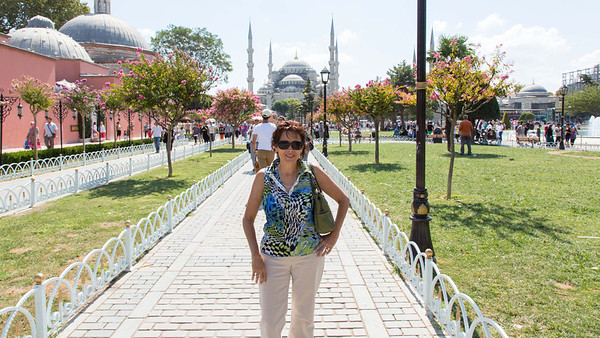 Sultan Ahmed Mosque (Blue Mosque) - viewed from exit of Ayah Sophia Museum
