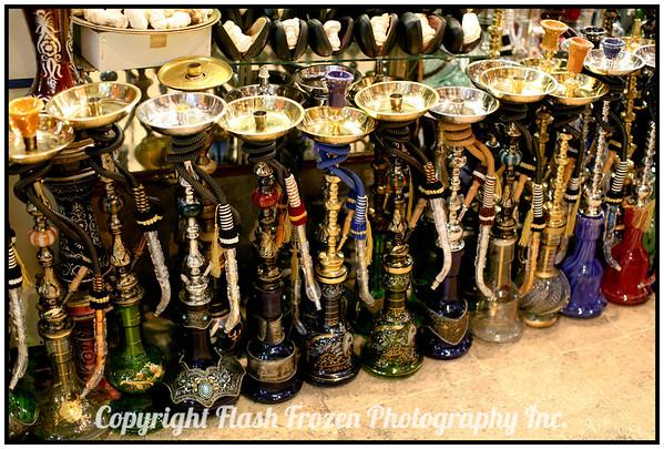 Hookahs inside the Covered Grand Bazaar