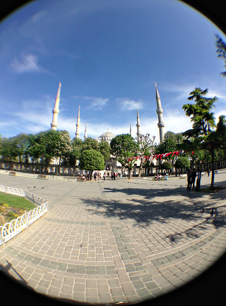 Fisheye of the Blue Mosque