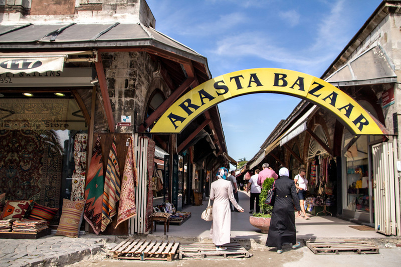 Arasta Bazaar; rents from the shops here support the upkeep of the Blue Mosque.
