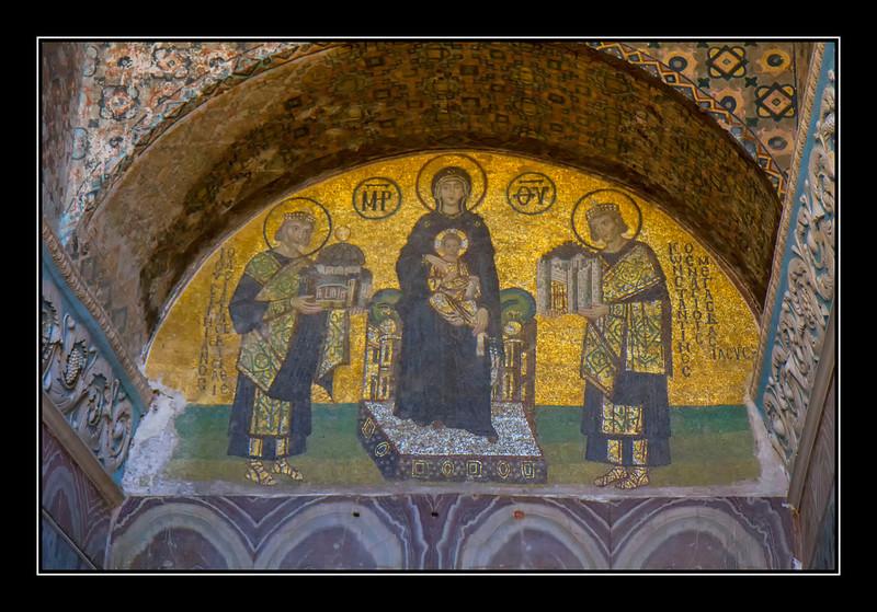 Hagia Sophia entrance mosiac
