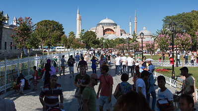 Ayah Sophia Museum - viewed from exit of Sultan Ahmed Mosque (Blue Mosque)