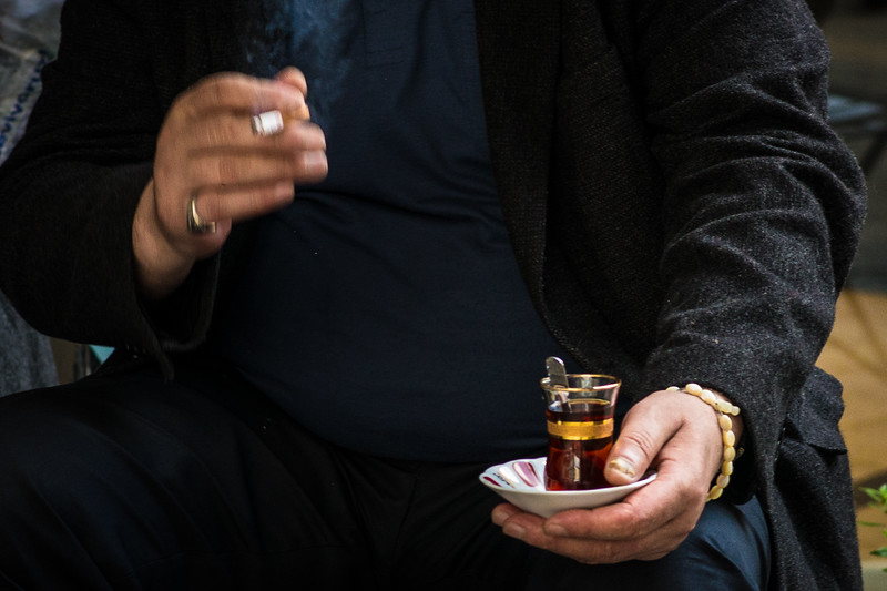 Typical - tea and smoking