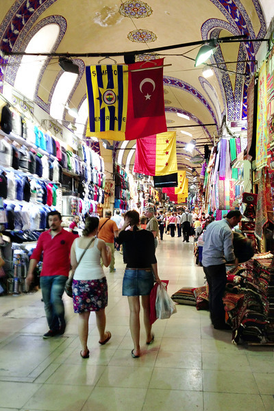 The Grand Bazaar. According to some guide books there are over 4,000 shops.