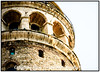 Galata Tower built about 1200 AD<br /> istanbul, Turkey