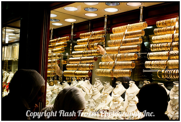 Inside the Covered Bazaar<br /> Miles of Gold Stores like this<br /> istanbul, Turkey