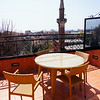 My balcony at the Sultanahmet Suites in Old Town; a great place to stay with a very friendly staff.