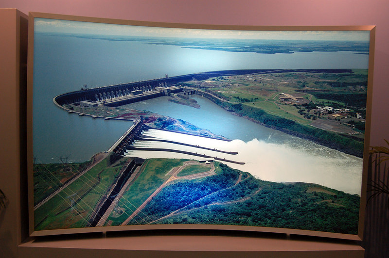 Itaipu Dam, on Border of Brazil, Argentina and Paraguay