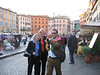 A mime in a hurry in Piazza Navona