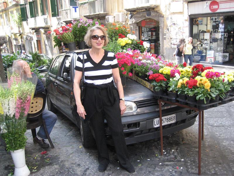 Flower vendor, Naples