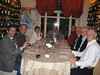 Dinner with Neal's colleagues, near Perugia
