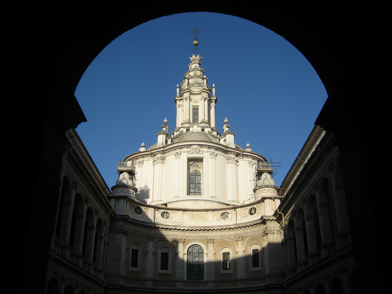 Sant' Ivo, Rome, from Sapienza courtyard.