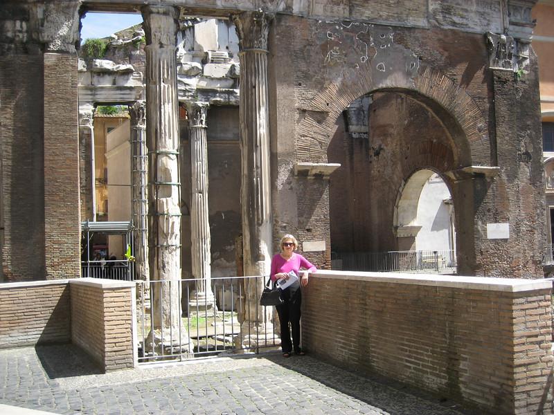 Porta d'Ottavia, entrance to the ghetto, Rome.