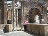 Porta d'Ottavia, entrance to the ghetto, Rome.